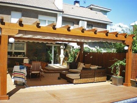Toldos jarama madrid pergolas for Tejabanes para terrazas